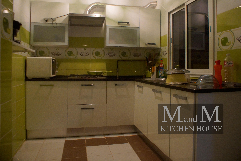 Deco Cuisine Blanche Et Bois cuisine encastrable blanche avec deux niches - meubles et