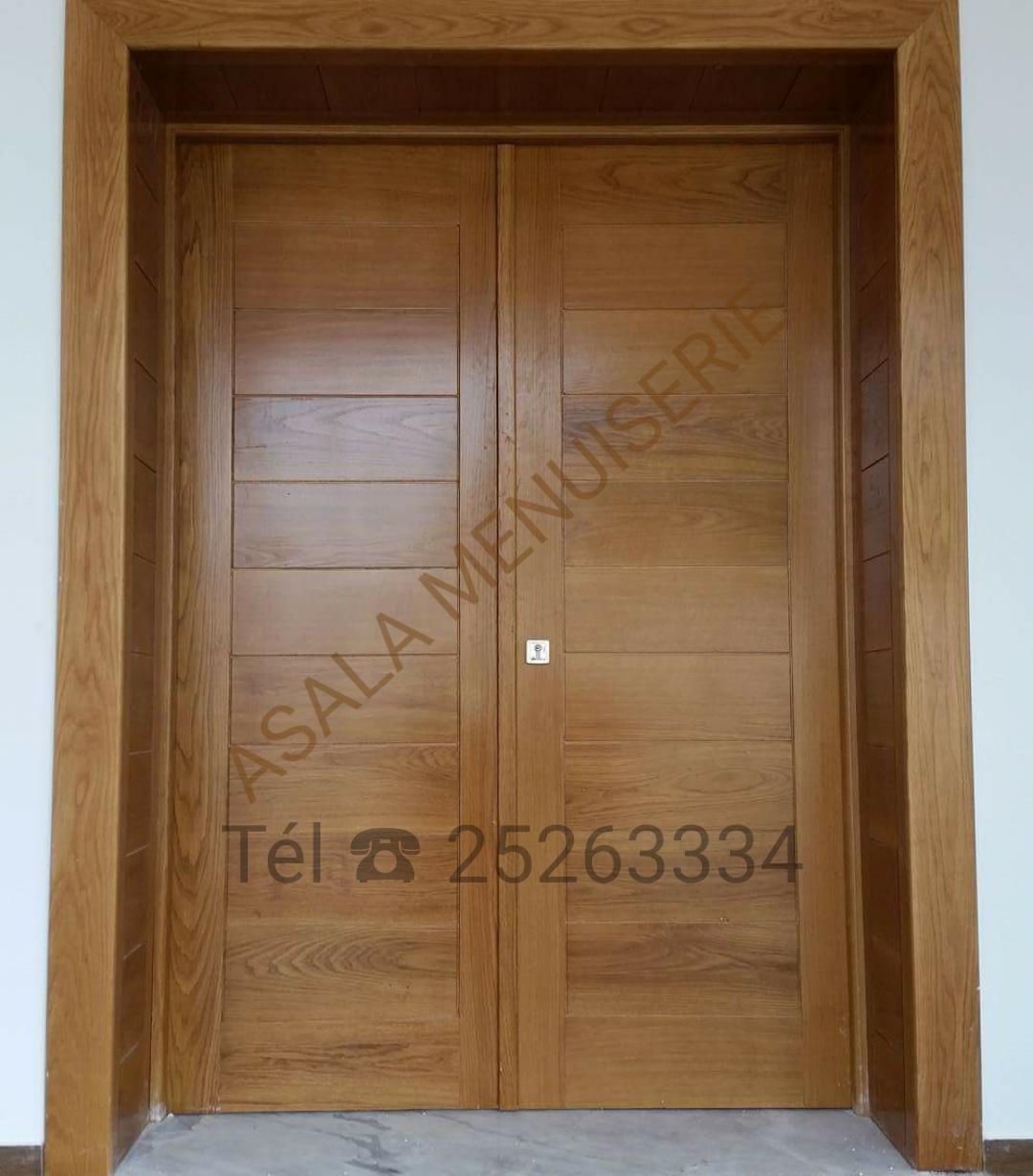 Porte D Entrée En Bois Massif Prix portes en bois nobles - meubles et décoration tunisie